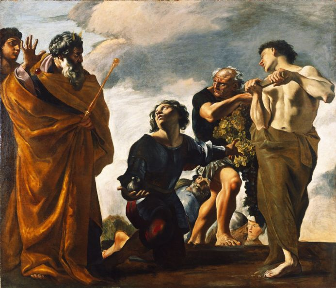 Lanfranco, Giovanni: Moses and the Messengers from Canaan. Fine Art Print/Poster (4809)